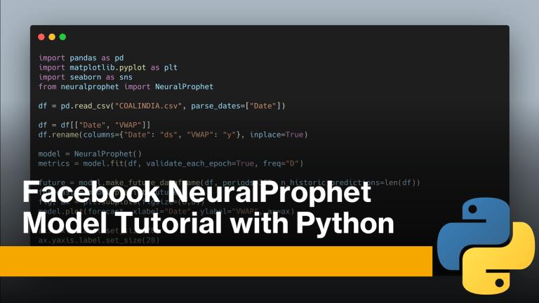 NeuralProphet Model with Python