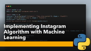 Instagram Algorithm with Machine Learning