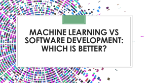 Machine Learning Vs Software Development