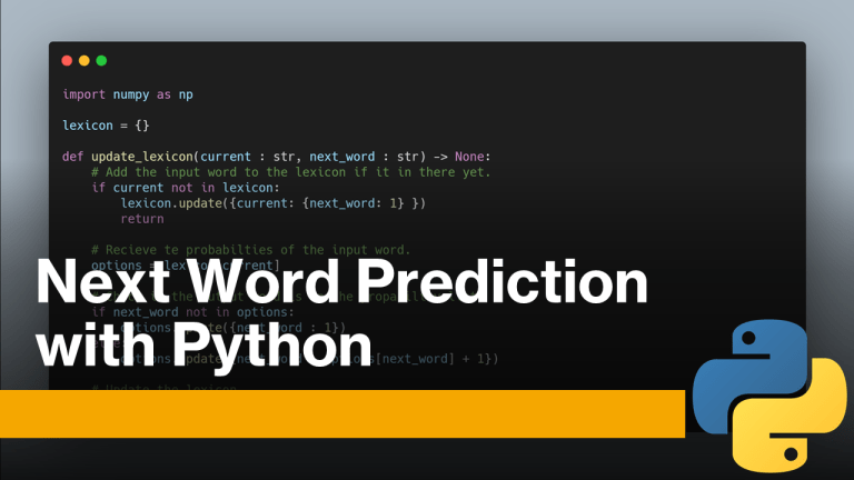 Next Word Prediction with Python