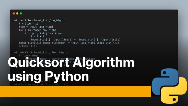 Quicksort using Python