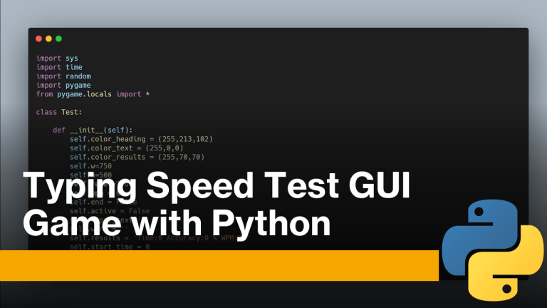 Typing Speed Test GUI with Python