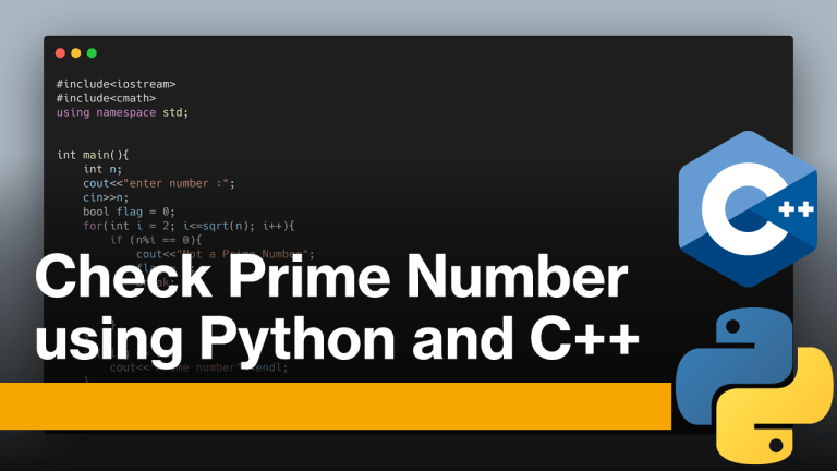 Prime Number Using Python and C++