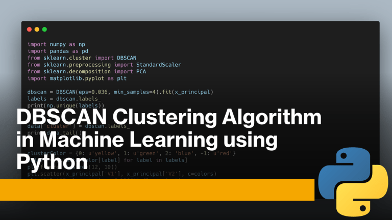 DBSCAN Clustering in Machine Learning
