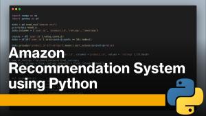 Amazon Recommendation System using Python