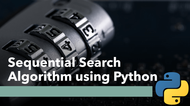 Sequential Search using Python
