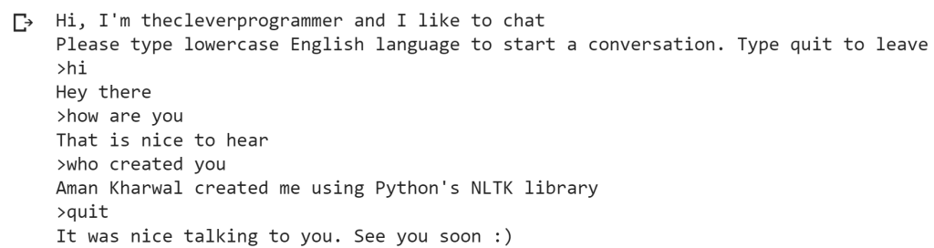 chatbot with python