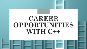 Career Opportunities with C++