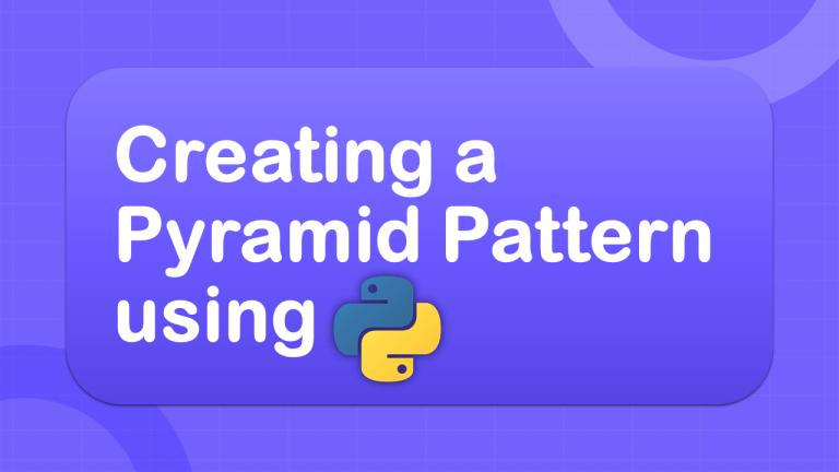 Pyramid Pattern using Python