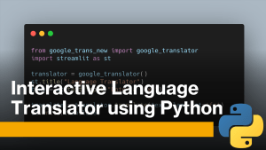Language Translator using Python
