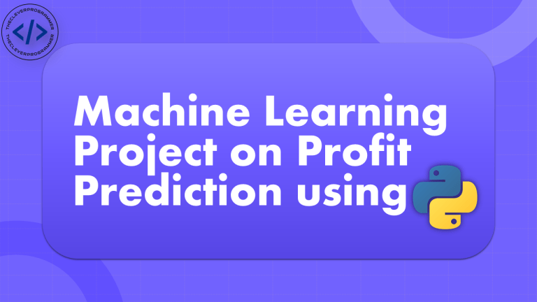 Profit Prediction with Machine Learning