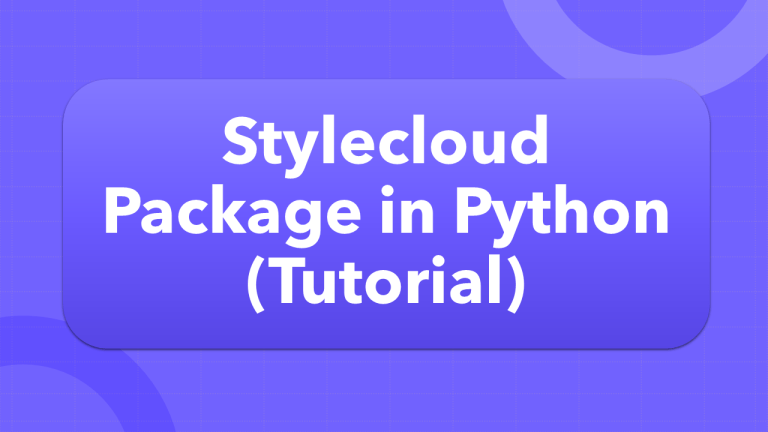 Stylecloud in Python (Tutorial)