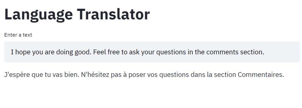 interactive language translator using Python