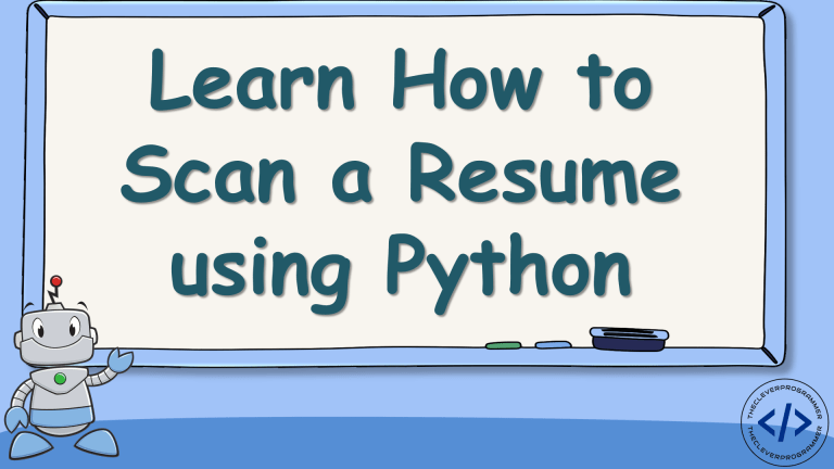 Resume Scanner using Python