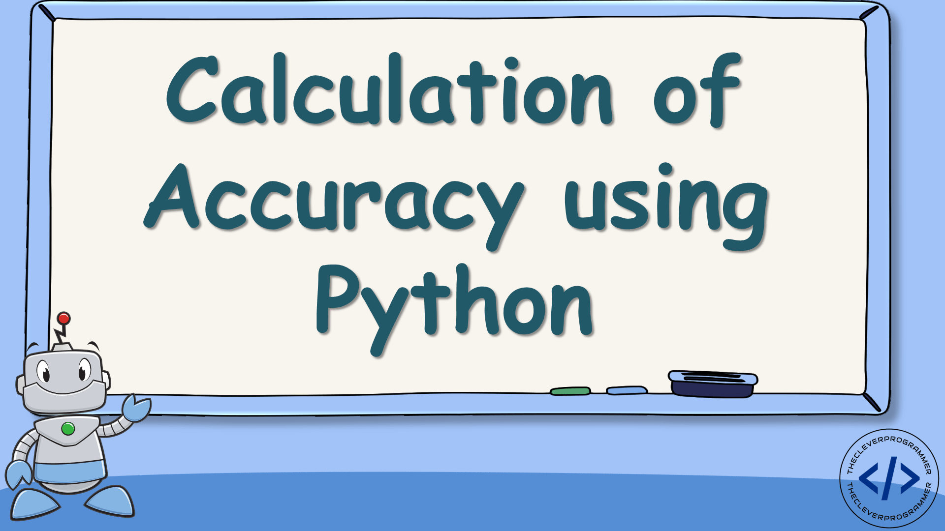 Calculation of Accuracy using Python