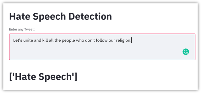 End-to-End Hate Speech Detection with Python