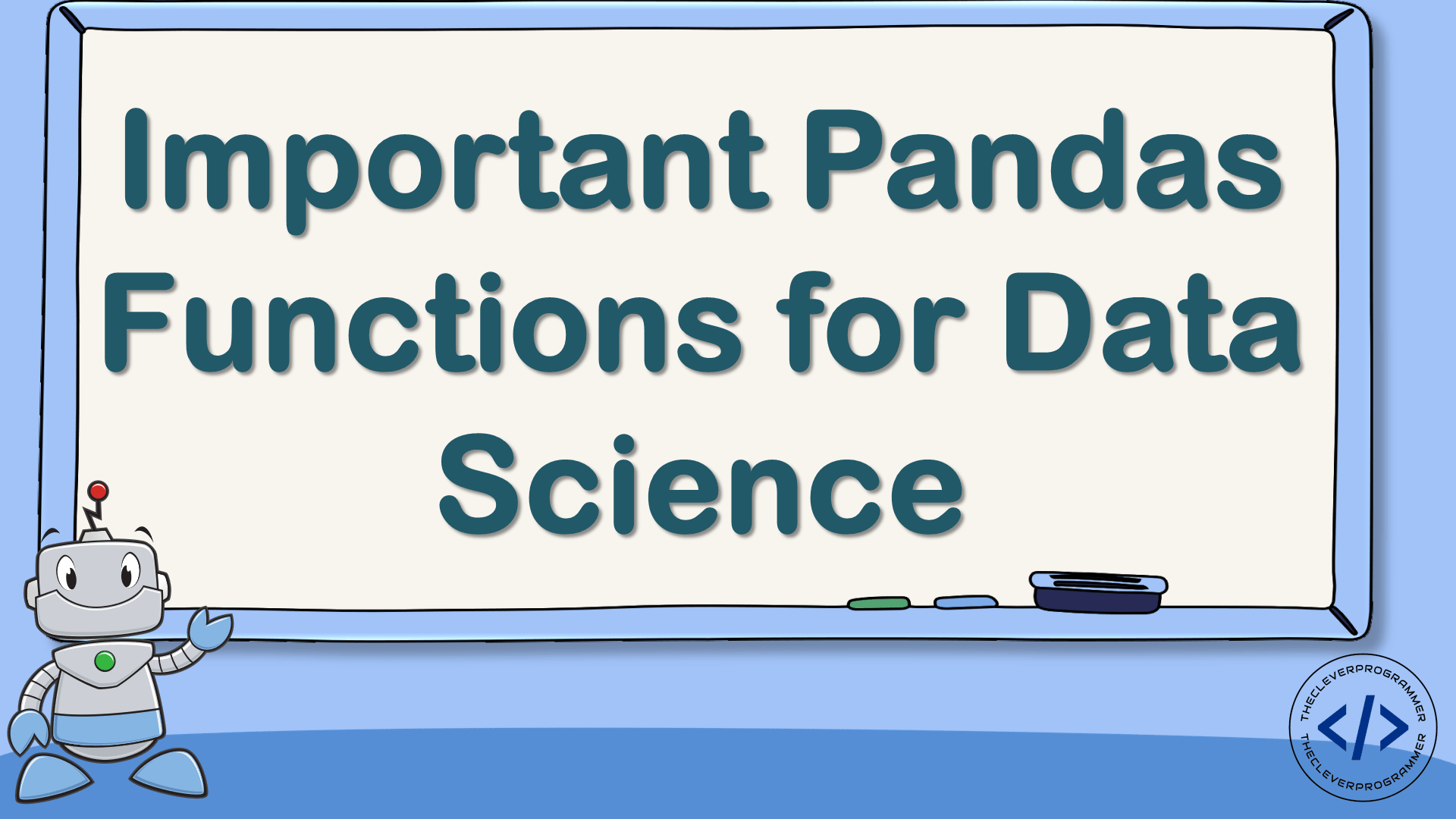 Important Pandas Functions for Data Science