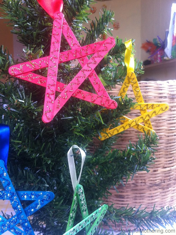 Easy christmas crafts for kids stars