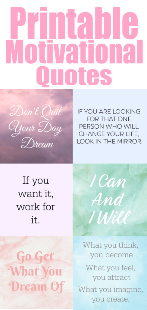 40 Printable Motivational Quotes For Your Vision Board - The ...