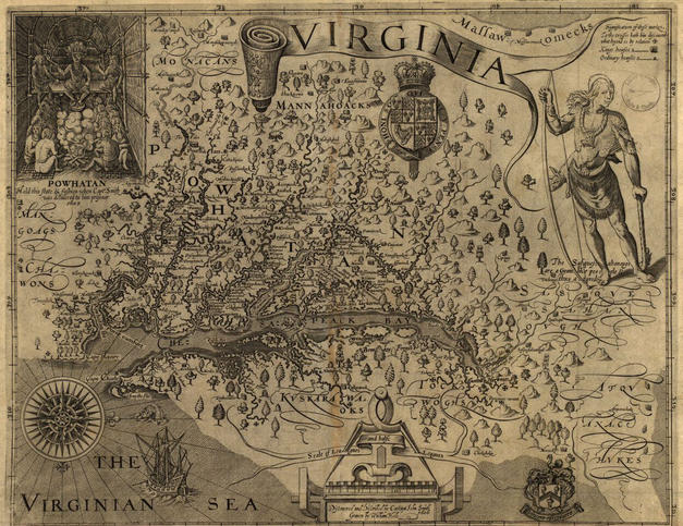John Smith's Map of Virginia (1624)