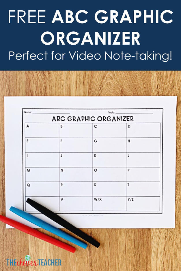 free ABC Graphic Organizer