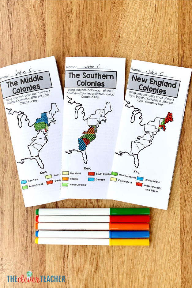 13 Colonies brochures by region