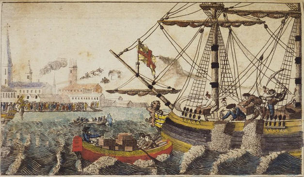 Boston Tea Party Engraving (1789)