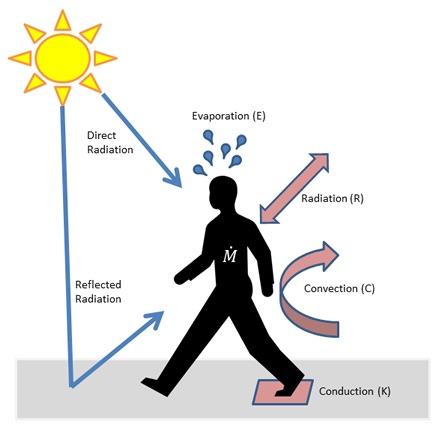 Conduction, Convection, Radiation Diagram
