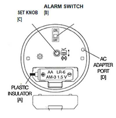 Quartz Alarm Clock With Illuminated