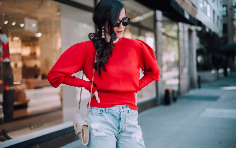 Miss Selfridge Red Hot Sweater
