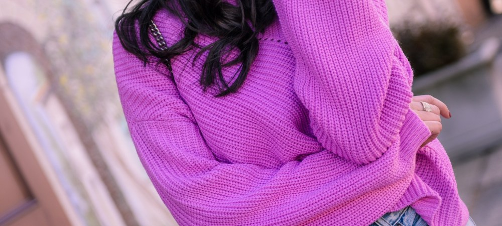 Slouchy Pink Sweater