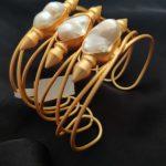Aphrodite Baroque Pearl Cuff Bracelet