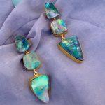 Meredith Sea Shell Pearl Drop Earrings
