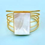 Divine Mother of Pearl Cuff Bracelet