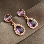 Blair Amethyst Drop Earrings_side