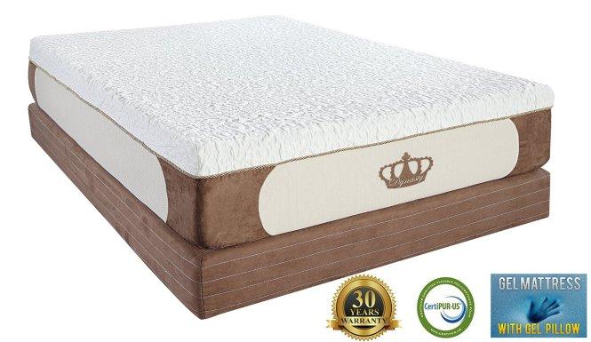 Best Gel Memory Foam Mattress Dynastymattress Cool Breeze 12 Inch