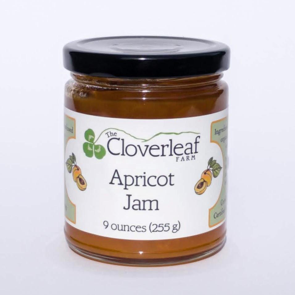 organic apricot jam. 9 oz