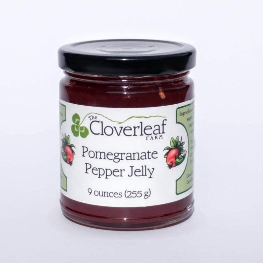 organic pomegranate pepper jelly. 9 oz