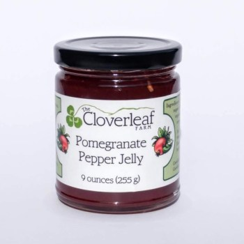 organic pomegranate pepper jelly. 9 oz