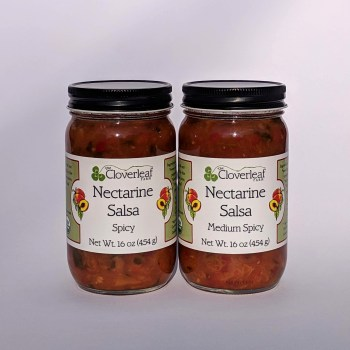 organic nectarine salsa-spicy or medium. 16 oz