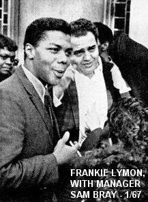 Fankie Lymon with Manager Sam Bray January 1967