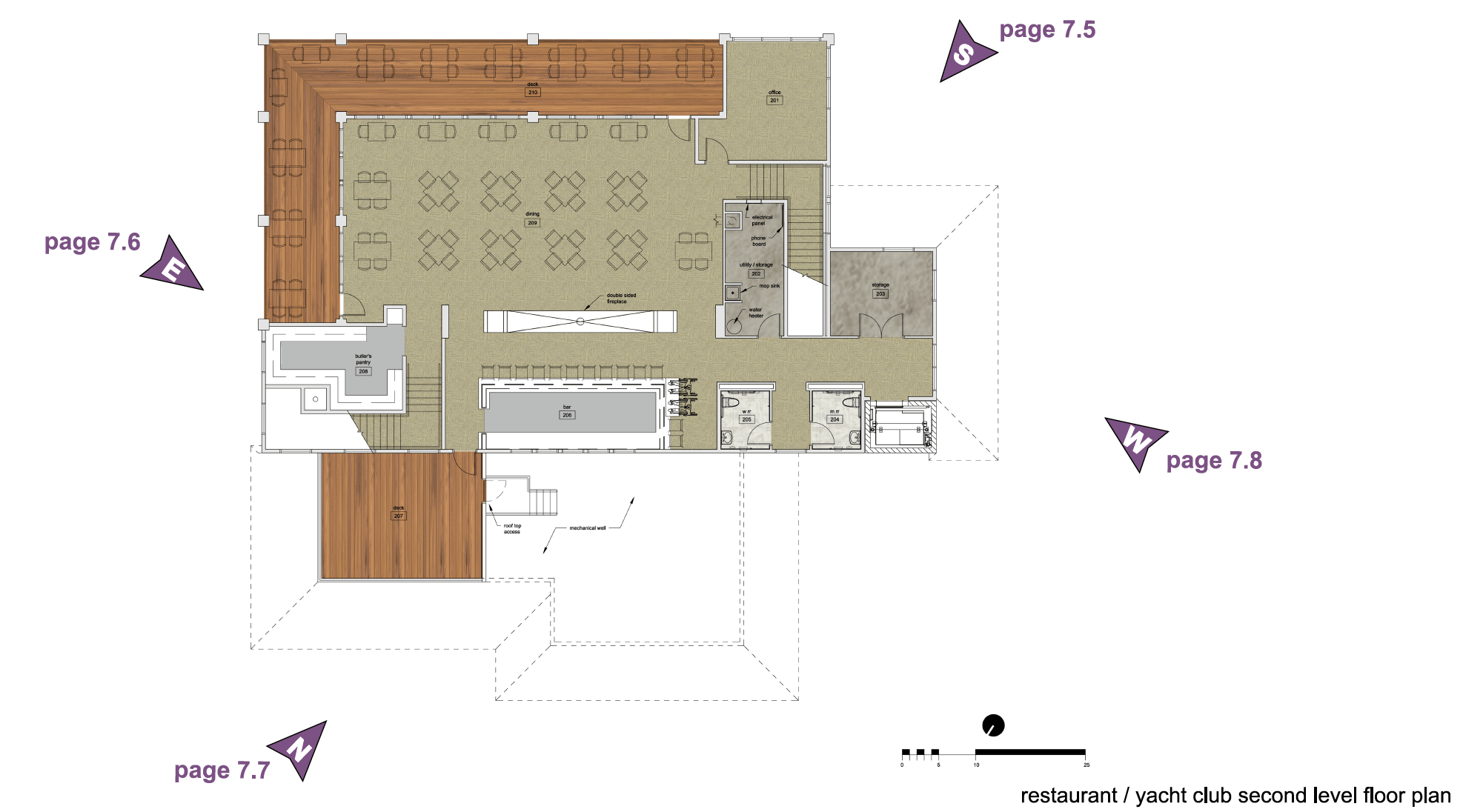 Plan of the clubhouse