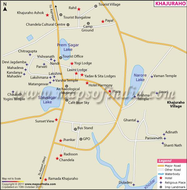 Khajuraho City Map