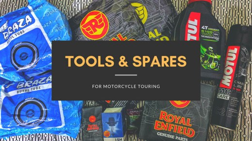 Tools & Spares for motorcycle touring
