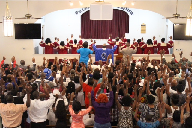 The Charity Missionary Baptist Church Family - Hands Up, Don't Shoot in support of Michael Brown