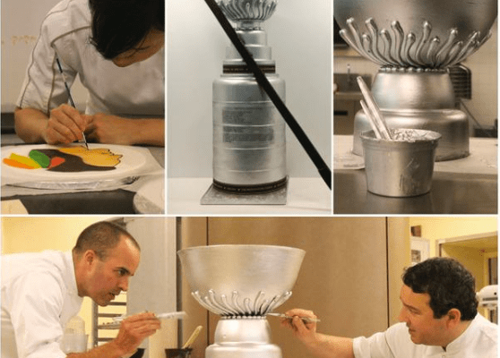 Pastry School Creates 100-Pound Blackhawks Chocolate Stanley Cup