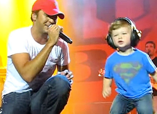 This Video of Luke Bryan's Son Dancing on Stage With Him… So PRESH.
