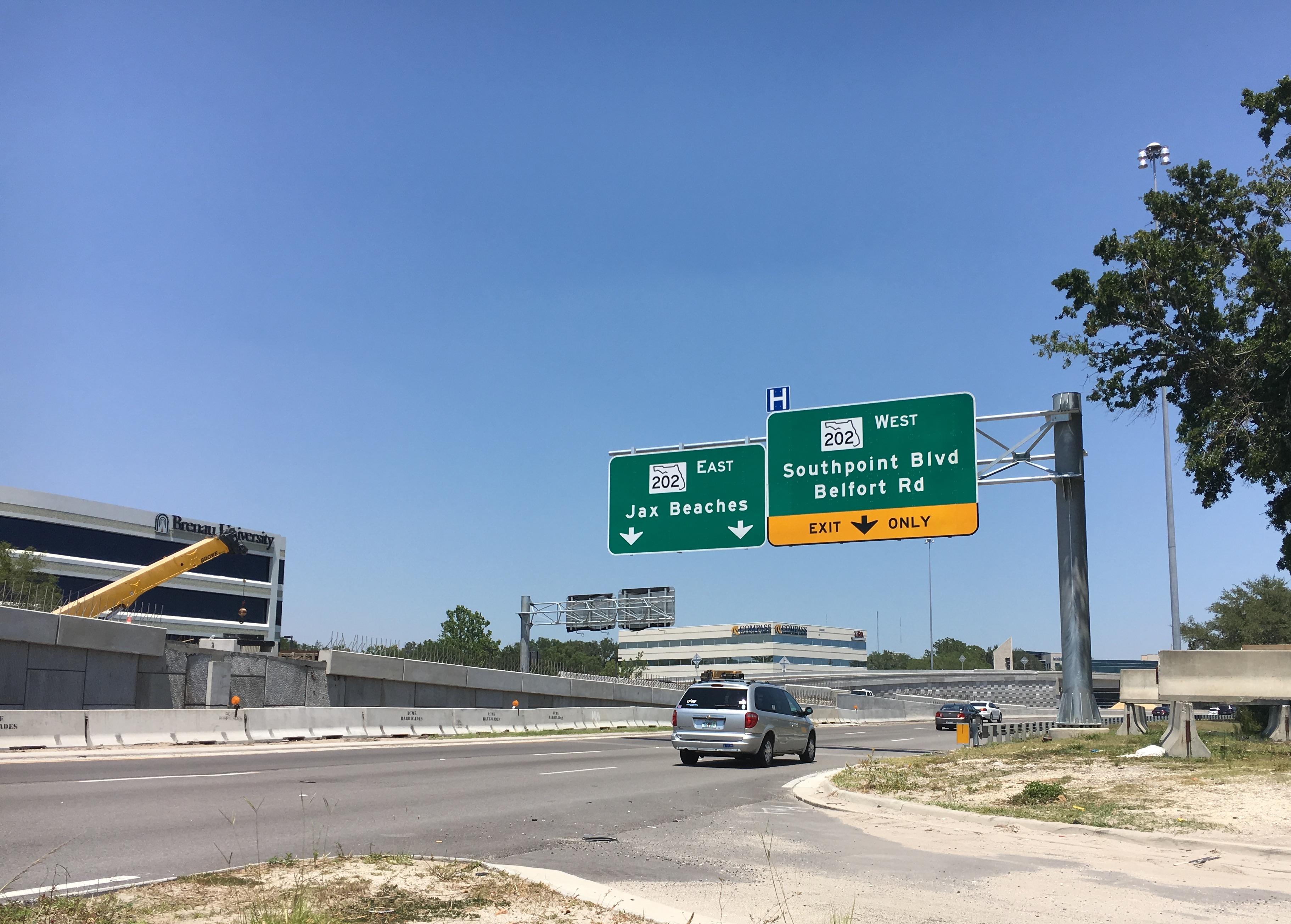 Butler Blvd. signage, Jacksonville, FL