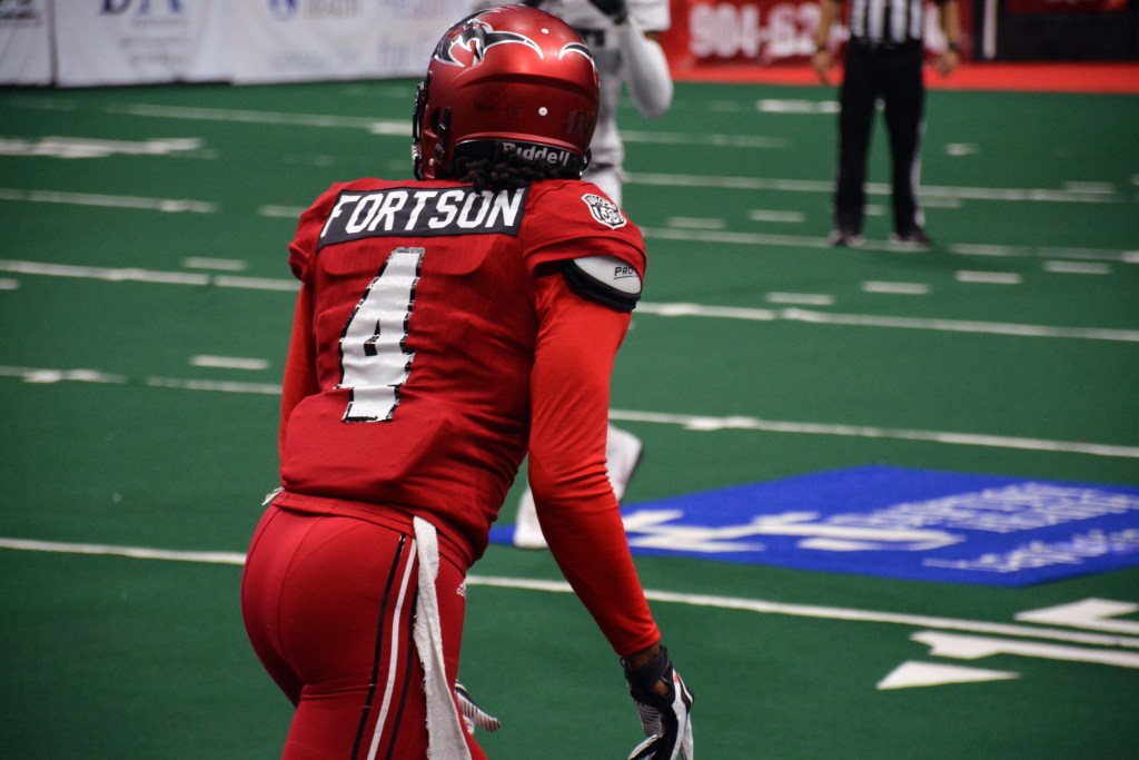 Sharks WR Jarmon Fortson lines up - Photo by The Coastal