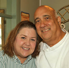 Bob & Christine Guido, River's Edge Cafe - We're spending our summer vacation moving into our new home in Wayside. Summer is our busy season at the cafe, so we'll be here most of the time. Christine goes to Cape Cod with her sister. Stop by and try our summer waffle - the Orange creamsicle.